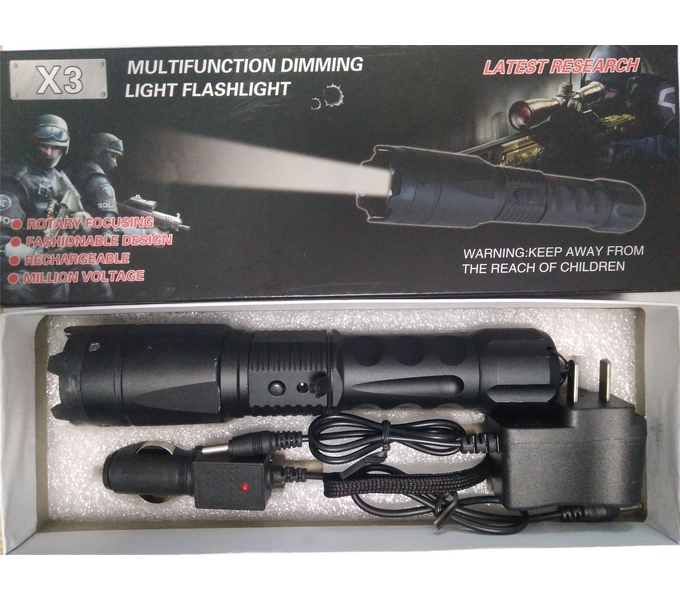 Black Hawk X3 High Voltage Self-defense Electric Shock Stick