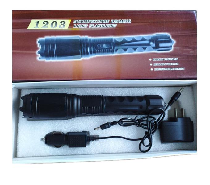 新款黑鹰1203型三档照明高压电击棍