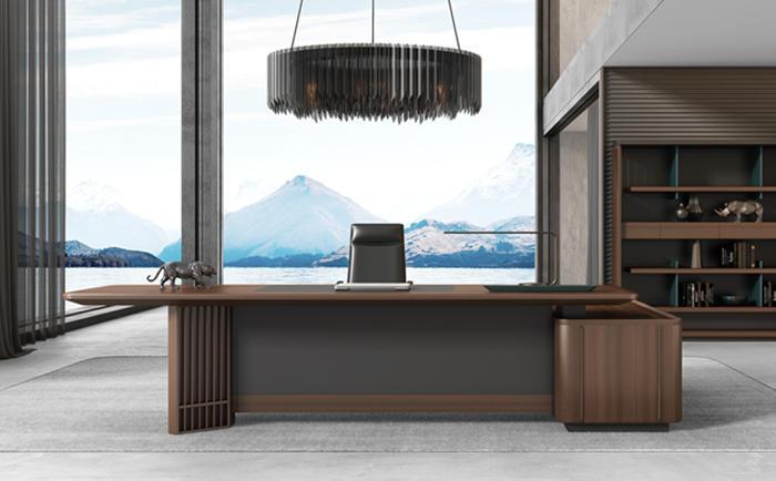 观和实木主管桌