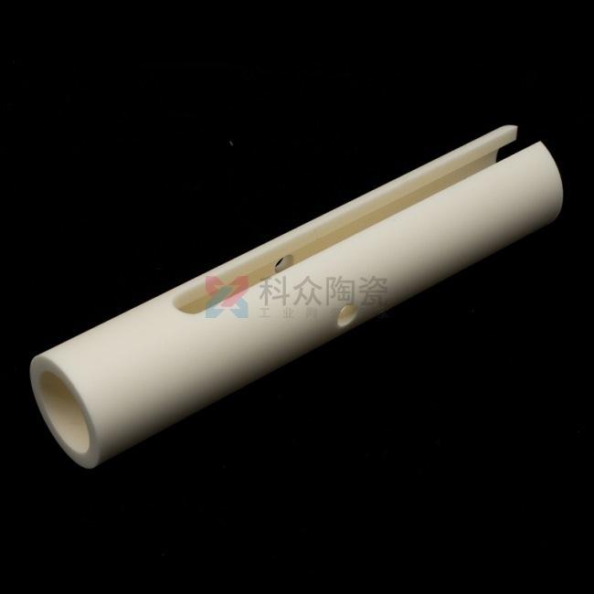 99氧化铝精密陶瓷管开槽