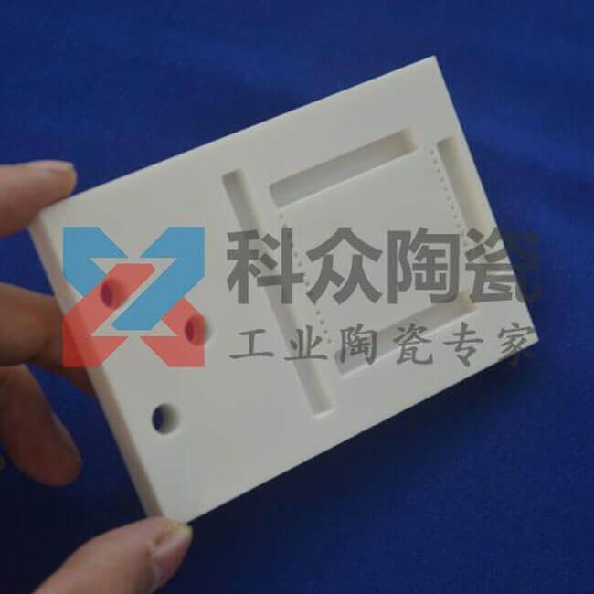 氧化铝精密陶瓷板开槽打孔