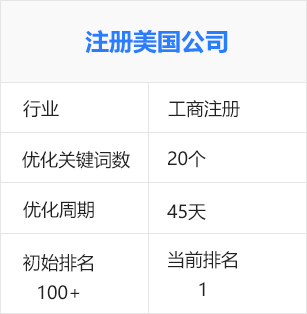 美國公司注冊,注冊海外公司(工商稅務行業)百度seo優化排名推廣案例