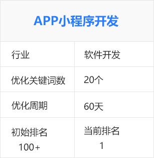 小程序開發、app小程序開發(軟件開發)百度seo優化排名推廣案例