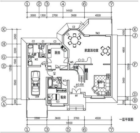 农村轻钢别墅户型图