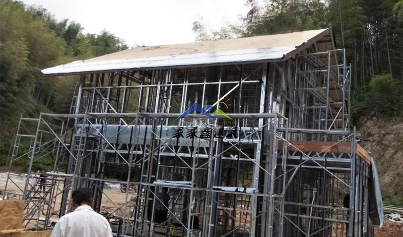 贵州赤水轻钢房屋屋顶施工