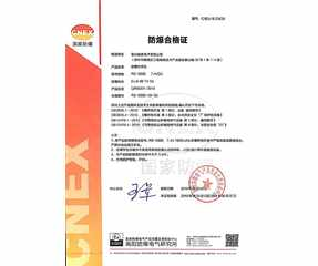 RS-589E explosion-proof certificate