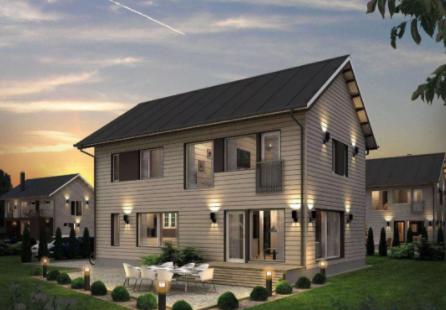 绿色、环保的新型建筑 轻钢别墅