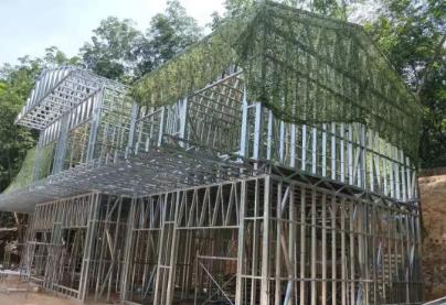 轻钢别墅施工完全不受气候条件影响