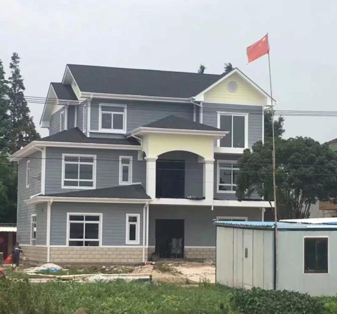云阳周老师150平3层轻钢别墅施工案例