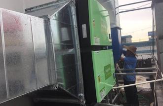 四川省成都市·无里园区·20000风量油烟净化器楼顶安装案例