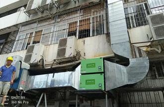深圳市宝安区·全家国民便当店·24000风量油烟净化器安装工程