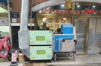 唐山市·十三太煲私房菜·24000风量油烟净化器安装案例