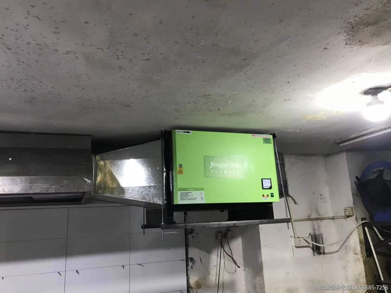 南通新华苑餐厅6000风量油烟净化器安装案例