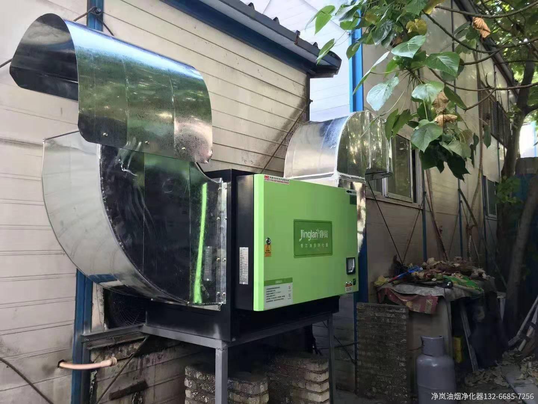 泉州新秀餐馆8000风量油烟净化器安装案例