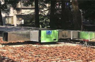 合肥匯萬家餐厅6000风量油烟净化器安装案例