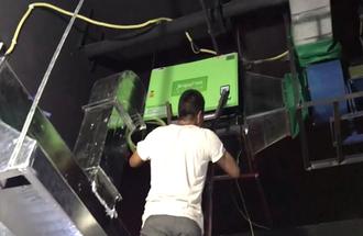 唐山市悦海香天餐厅8000风量油烟净化器安装案例