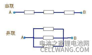 锂电池串联和并联的区别电路图解