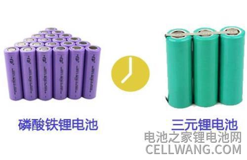 三元锂电池磷酸铁锂电池对比图片