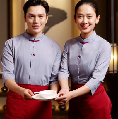 茶楼服务员工作服