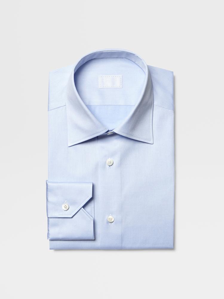 重庆男士蓝色纯棉衬衫定制