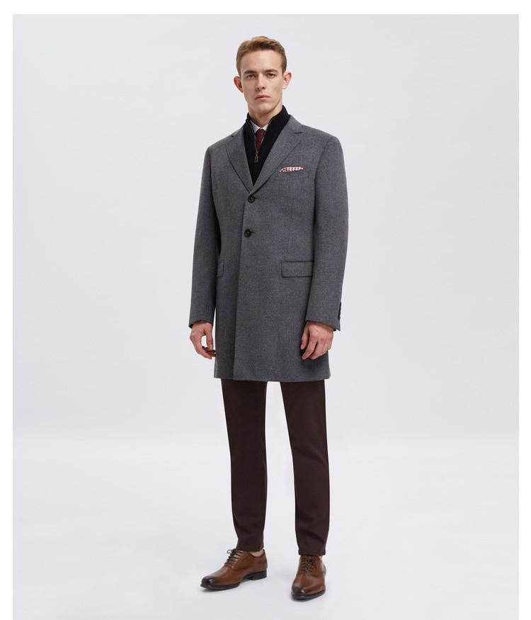 男士商务灰色大衣