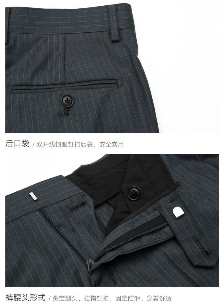 男士灰色条纹商务西服