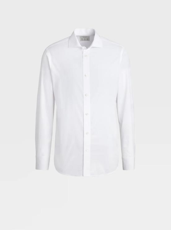 重慶男士純棉白色商務襯衫定制
