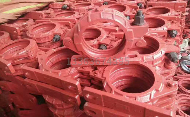 125泵车固定座管卡的图片