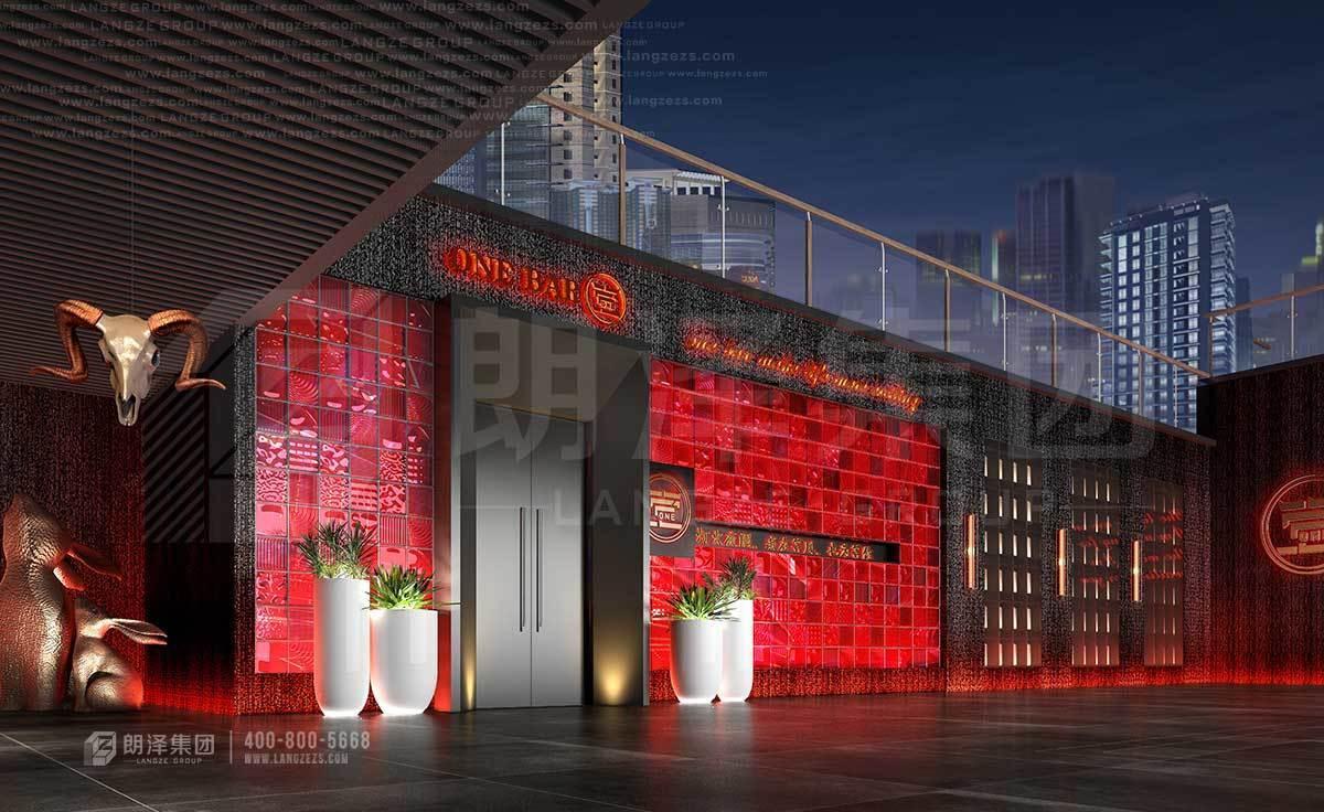中式风格音乐酒吧设计装修方案
