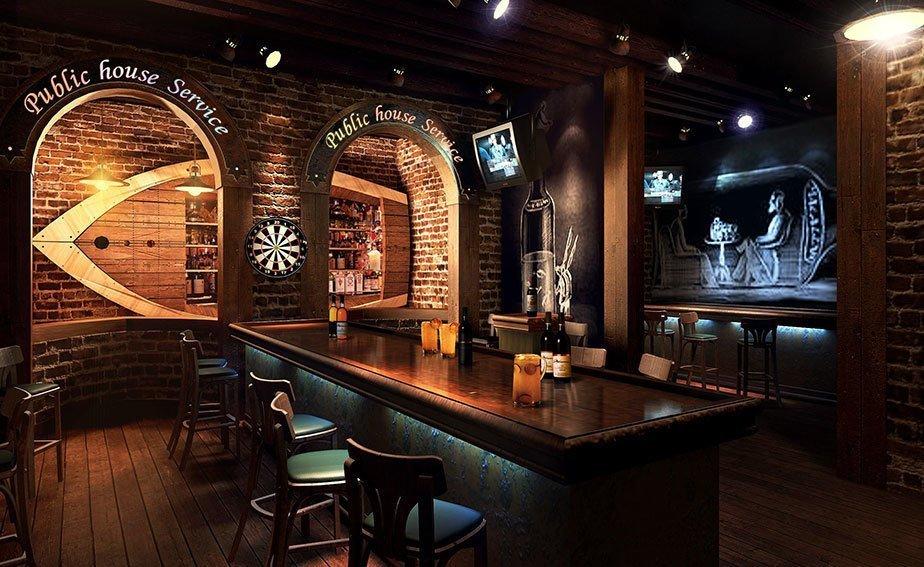 3款复古小酒吧装修效果图