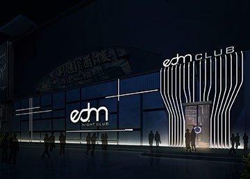 江门EDM电音酒吧设计方案及效果图