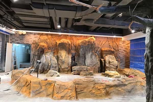 郑州水泥假山假树雕塑