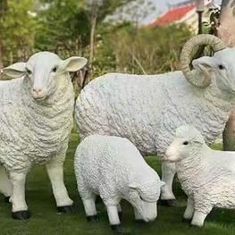 玻璃钢卡通羊雕塑