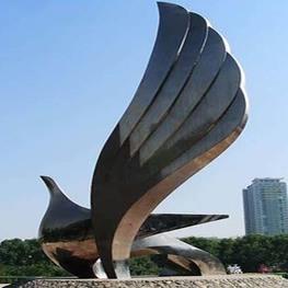 不锈钢鸟类雕塑