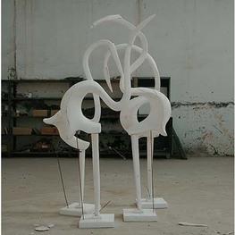 泡沫雕塑天鹅