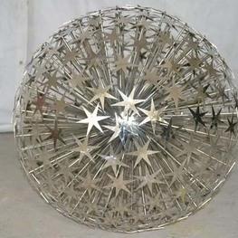 不锈钢圆球雕塑