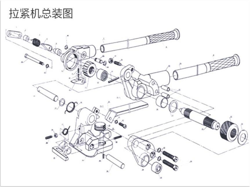 手動鋼帶拉緊機分解圖