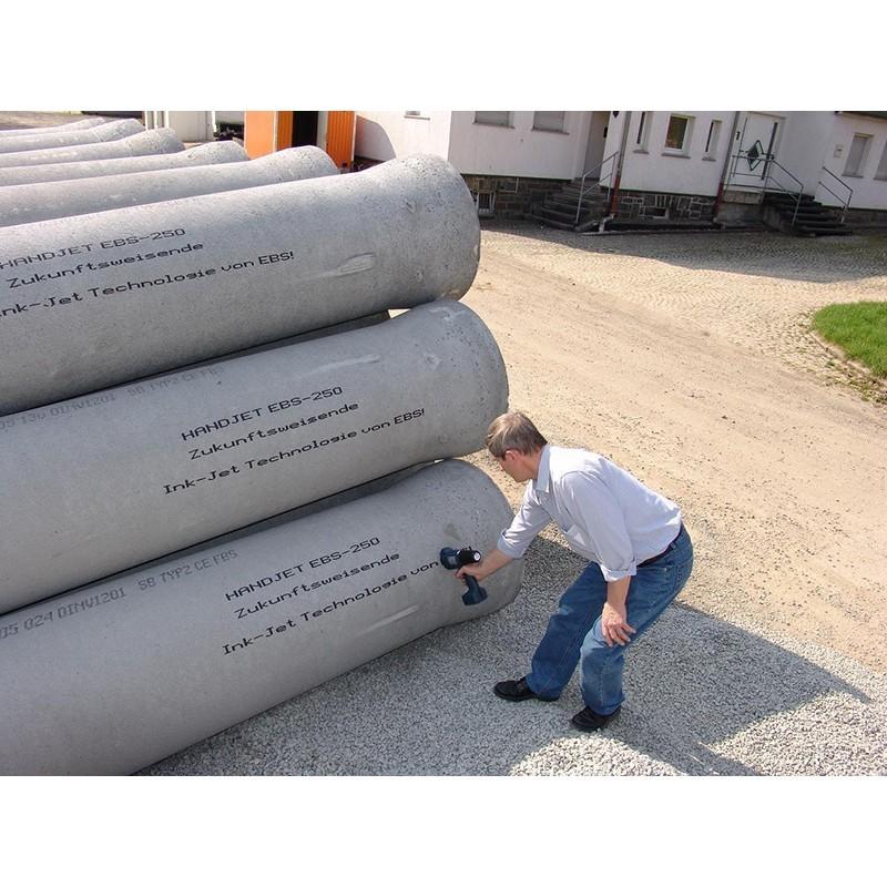 EBS250在水泥管喷码图片