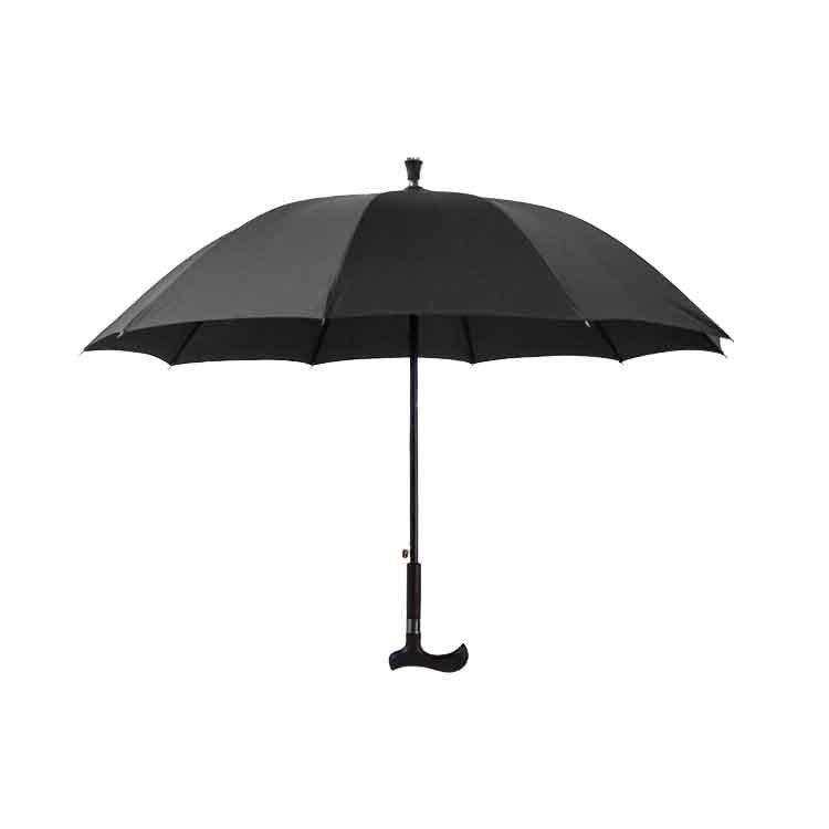 高档老人仿木拐杖直杆伞生产高端定作高级订作