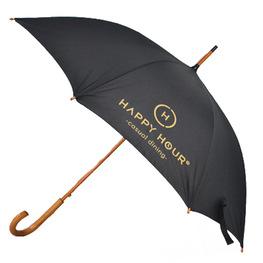 8骨优质木杆广告直杆伞酒店迎宾印标印字印花