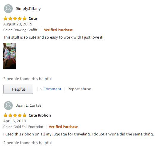 good feedback of ribbon