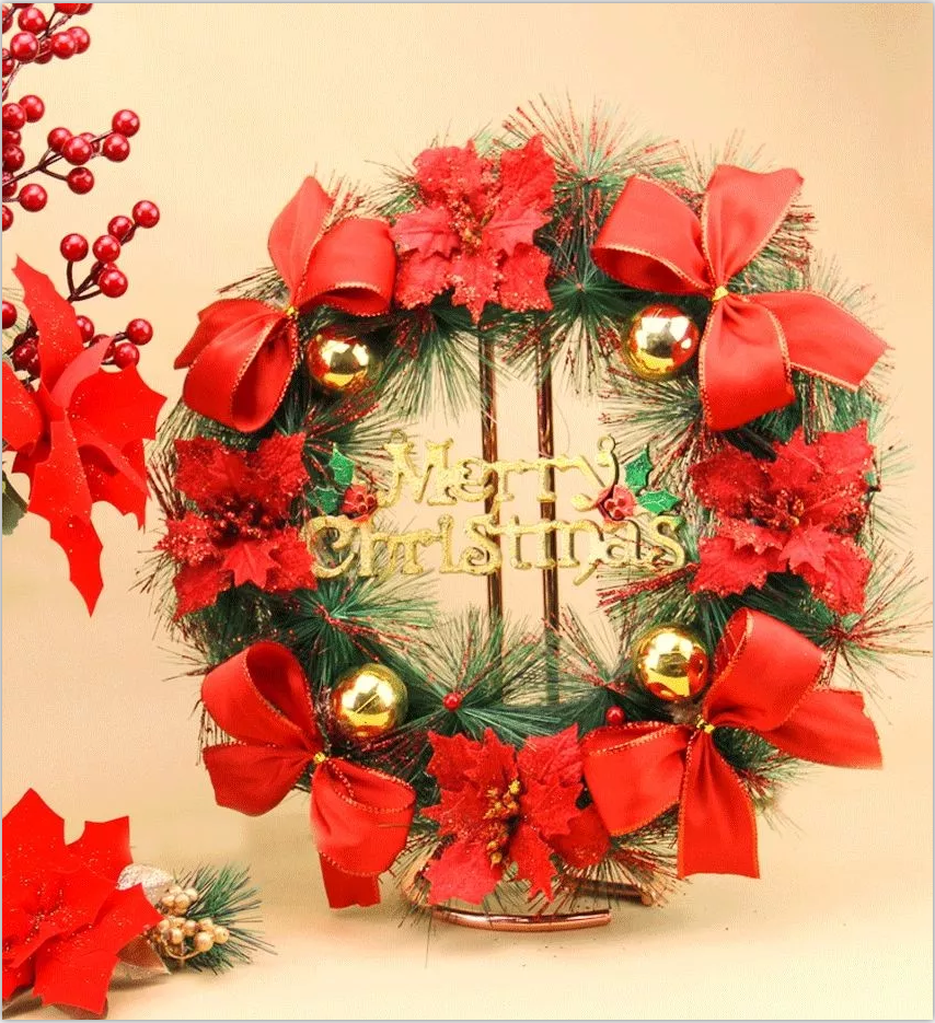 Christmas ribbon for wreath decoration