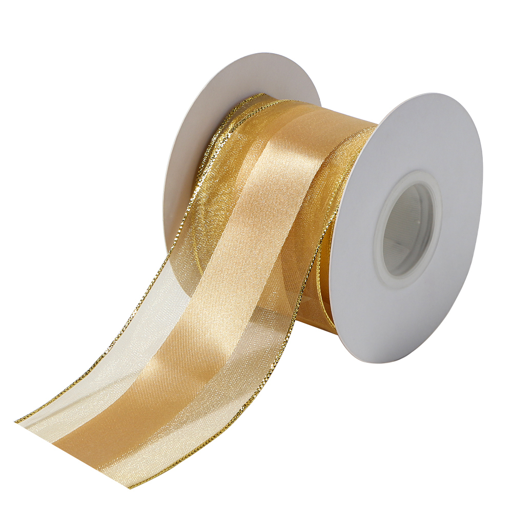 wire edge organza ribbon