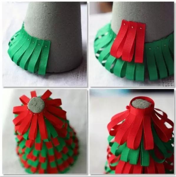 diy ribbon christmas