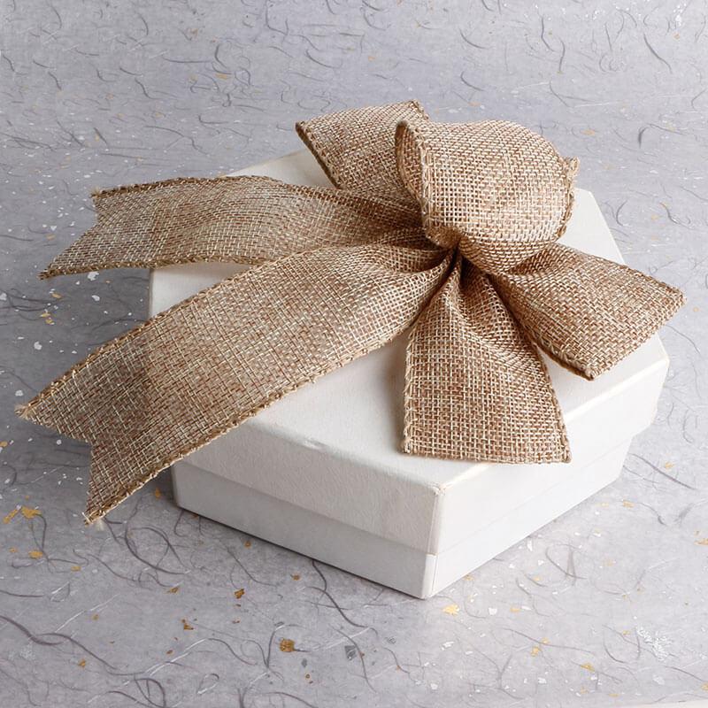 Burlap ribbon bow (26)