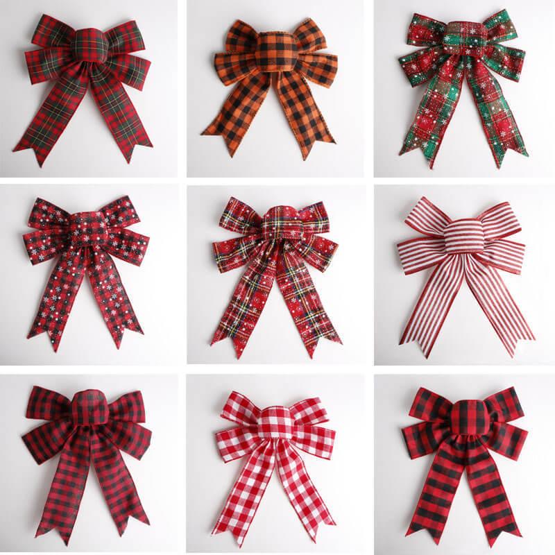 Burlap ribbon bow (20)