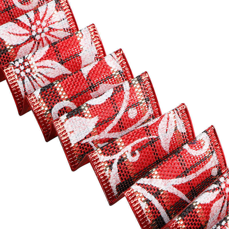 Custom Christmas burlap ribbon