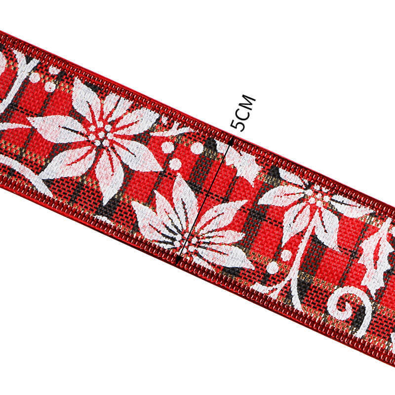 Custom Christmas burlap ribbon (1)