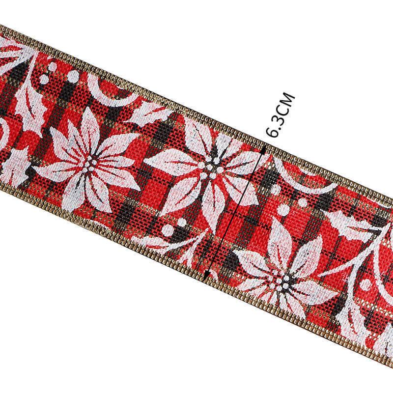 Custom Christmas burlap ribbon (6)