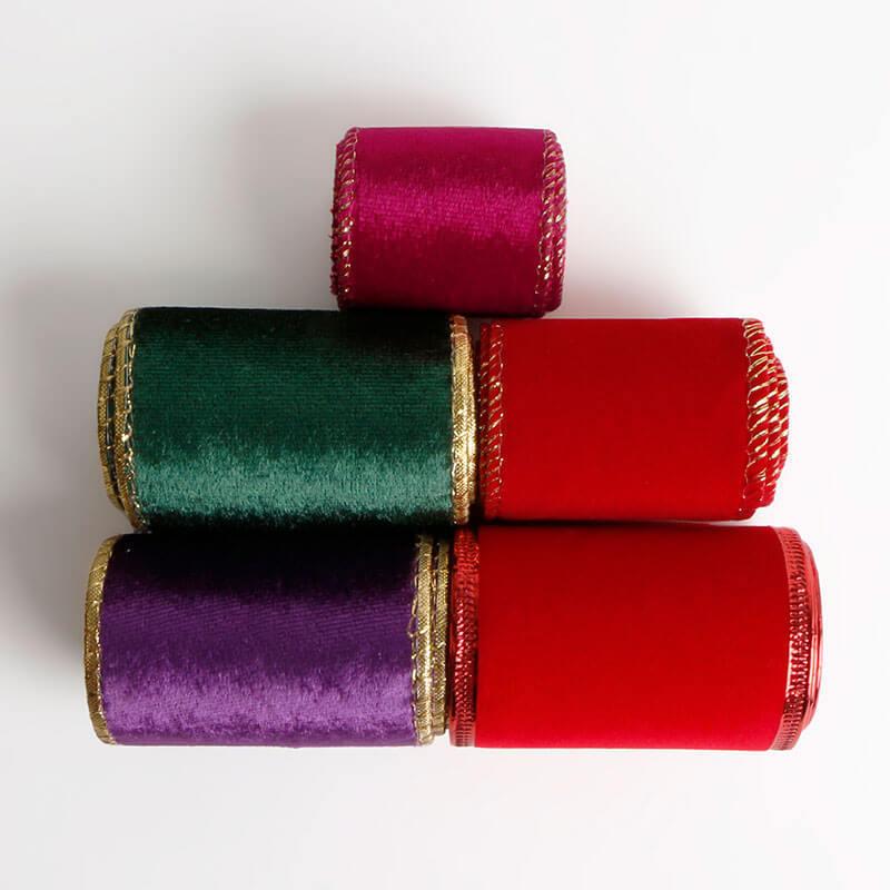 Wire edge velvet ribbon (2)
